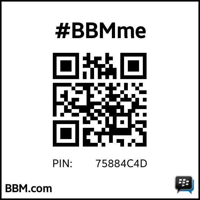 BlackBerry PIN: 75884C4D